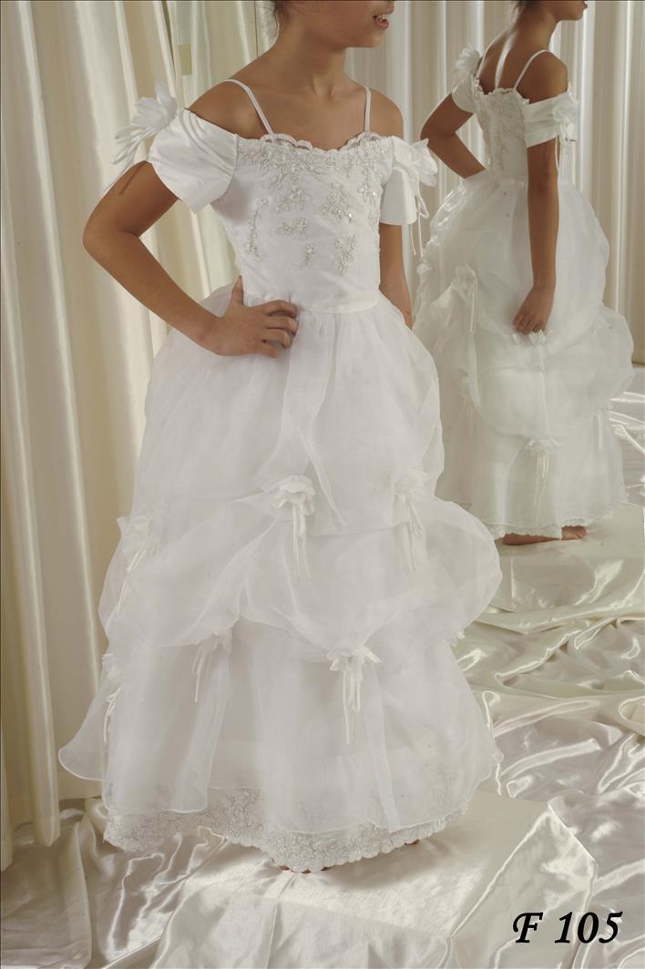 0c29ad8ec8f Φόρεμα για παρανυφάκι σε λευκό